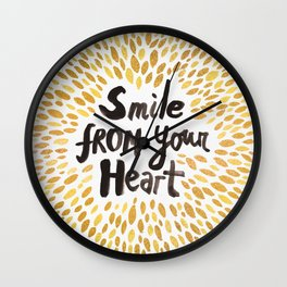 Smile From Your Heart Wall Clock