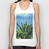 """palm tree Tank Tops featuring Palm TreE  by """"CVogiatzi."""
