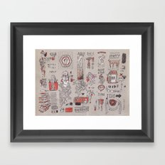 Bastante (A Lot) Framed Art Print