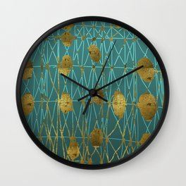 Kelp Forest Blue Wall Clock