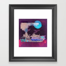 Vapour locomotion and the Train evolution Framed Art Print
