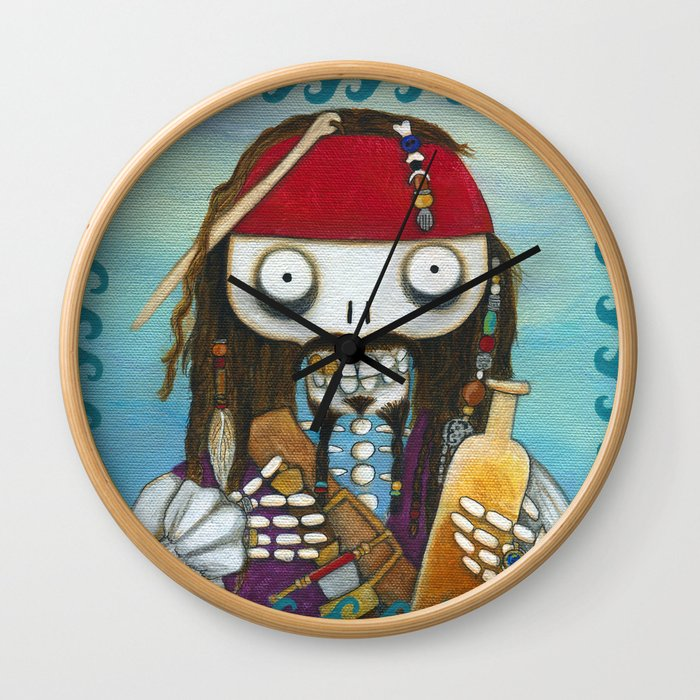 Captain Jacque Wall Clock