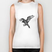 hawk Biker Tanks featuring Hawk by Cody Barry