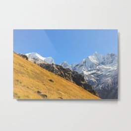 Annapurna mountain range Metal Print