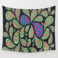 bugs Wall Tapestries featuring Bugs by Sarah J Bierman
