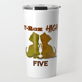 T-Rex High Five Travel Mug