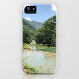 Semuc Champey iPhone Case