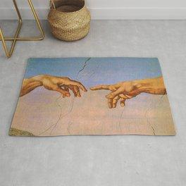 THE CREATION OF ADAM--- MICHELANGELO BUONARROTI Rug