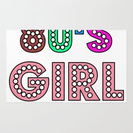 80s Girl Cute And Funny 80s Happy Love Gift Idea Design Rug