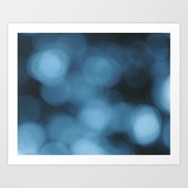 Blue Abstract 1 Art Print