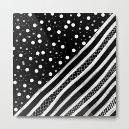 Black & White Graphic 2 Metal Print