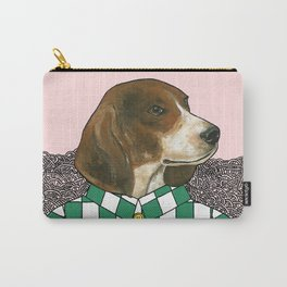 Checkered Beagle Carry-All Pouch