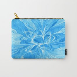 Blue Jeans Colors And White, Abstract Fractal Art Carry-All Pouch