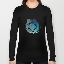 On the verge of Blue Long Sleeve T-shirt