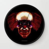 hocus pocus Wall Clocks featuring Hocus Pocus by Lazy Bones Studios