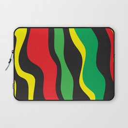 Red Yellow Green Black Rasta Wave Laptop Sleeve