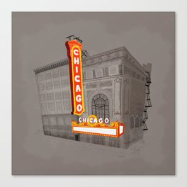 The Chicago Theater Canvas Print