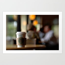 Starbucks Coffee Cup Art Print