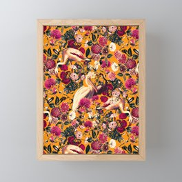 FLORAL AND BIRDS XVI Framed Mini Art Print