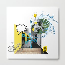 yellow studio Metal Print
