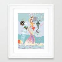 final fantasy Framed Art Prints featuring A Final Fantasy by Daniel Bevis