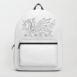 Welsh Dragon Outline Backpack