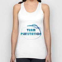 playstation Tank Tops featuring Team Playstation by Bradley Bailey