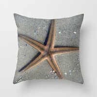 starfish Throw Pillows featuring Starfish by Nichole B.