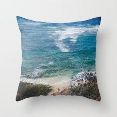 Surfer meets Sea - Diamond Head / Oahu / Hawaii Throw Pillow