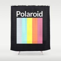 polaroid Shower Curtains featuring Polaroid by Good Sense