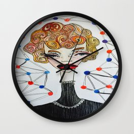 Curly Wirly hair Wall Clock