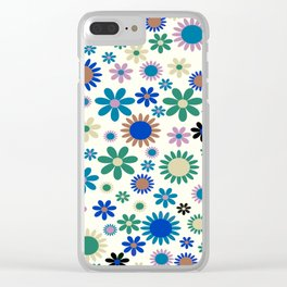 Colorful flowers Flower Power Festival Clear iPhone Case