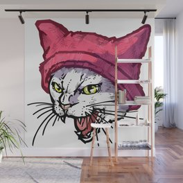 The Cat in the Hat (White) Wall Mural