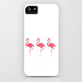 Flamingo tropical dance iPhone Case