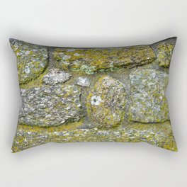 Old granite wall with grey and green colors Rectangular Pillow