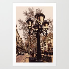 Barcelona, A walk down Las Ramblas Art Print