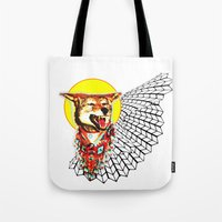 coyote Tote Bags featuring Coyote by Renaissance Youth
