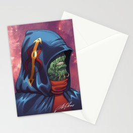 Evil Alien Diplomat Art by Al Rio Stationery Cards