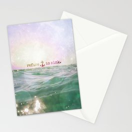 Refuse To Sink Stationery Cards