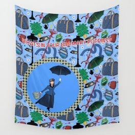What's in your bag Mary Poppins? Wall Tapestry