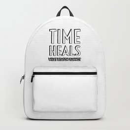 TIME HEALS WHAT REASON CANNOT - SENECA STOIC QUOTES Backpack