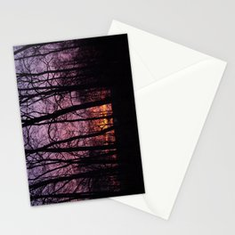 Sunrise Through the Trees   Stationery Cards