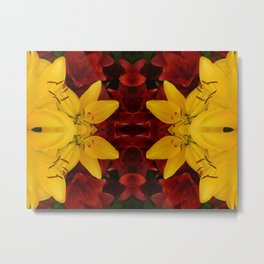 """A Gathering of Lilies"" Remix - 2 (1-1) [D4466~24] Metal Print"