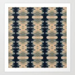 Shibori Reflections Art Print
