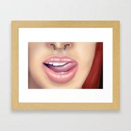 Li(ck)ps Framed Art Print