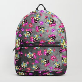 Slobbering Pit Bull - Day of the Dead Sugar Skull Pitbull Backpack