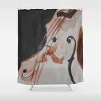 violin Shower Curtains featuring violin by Anja Kidrič AdAk