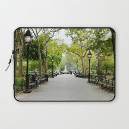 Morning Stroll in the Village Laptop Sleeve