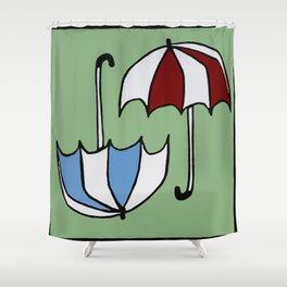Umbrellas Two Ways Shower Curtain