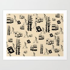 Travel Cities Art Print